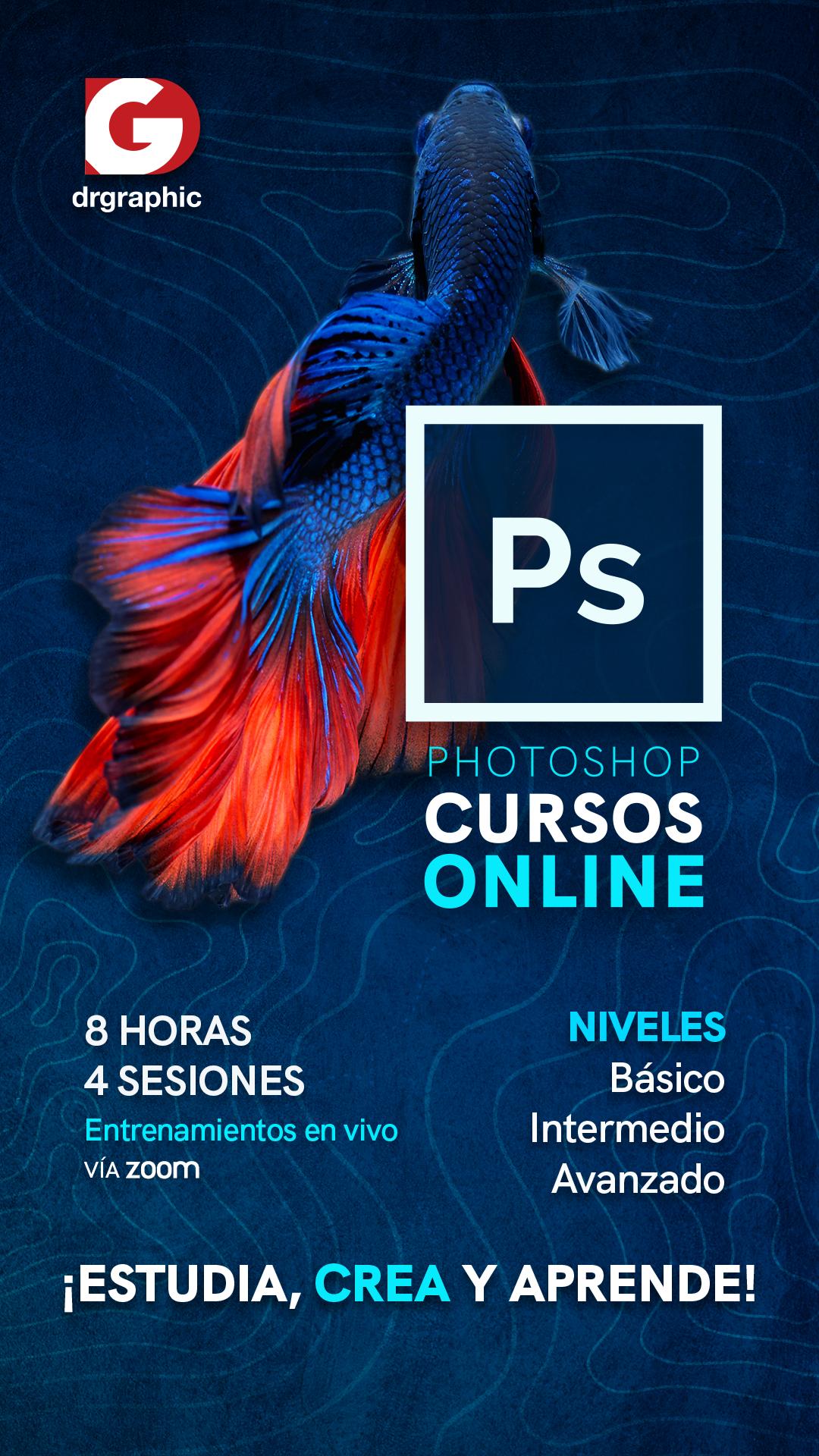 Curso de Photoshop, en niveles básico, intermedio y avanzado, con Dr Graphic Venezuela